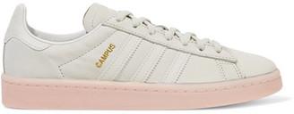 adidas Originals - Campus Nubuck Sneakers - Light gray $90 thestylecure.com