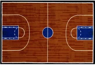 Fun Rugs Fun Time Basketball Court Sports Area Rug Rug