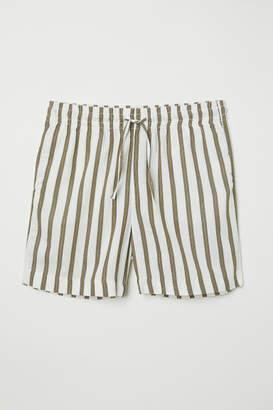 H&M Striped Shorts - Green