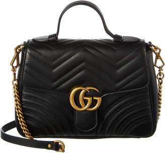 Gucci Gg Marmont Small Leather Top Handle Satchel