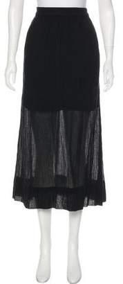 Raquel Allegra Sheer Maxi Skirt