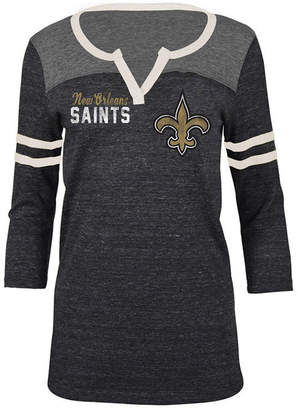5th & Ocean Women's New Orleans Saints V-Notch Raglan T-Shirt