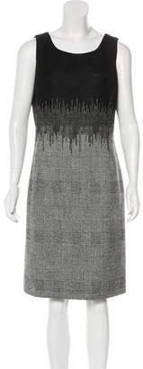 Oscar de la Renta Geometric Wool Dress