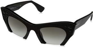 Miu Miu Women's Gradient MU02QS-1AB0A7-50 Semi-Rimless Sunglasses