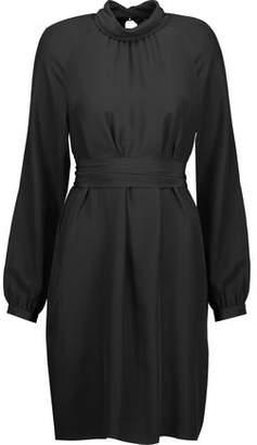 Vanessa Seward Cecily Belted Silk Turtleneck Mini Dress