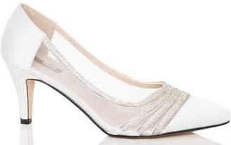 Quiz White Satin Point Toe Bridal Shoes