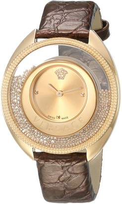 Versace Women's 'DESTINY SPIRIT Small' Swiss Quartz Stainless Steel and Leather Casual Watch, Color:-Toned (Model: VAR020016)