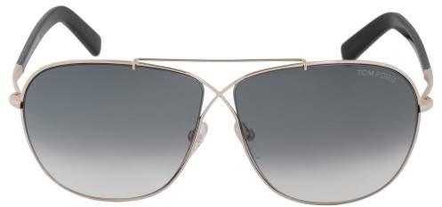 Tom Ford April Pilot Sunglasses FT0393 28P 61 | Gold Frame | Grey Gradient Lenses