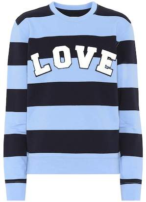 Tory Sport Striped cotton sweatshirt