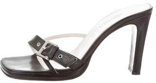 Charles David Leather Slide Sandals