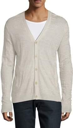 John Varvatos Long-Sleeve Silk & Cashmere Cardigan