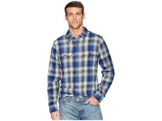 Toad&Co Indigo Flannel Slim Long Sleeve Shirt