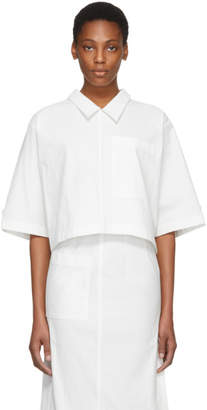 Thom Browne White Button Back Polo Blouse