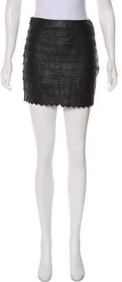 Leifsdottir Mini Leather Skirt