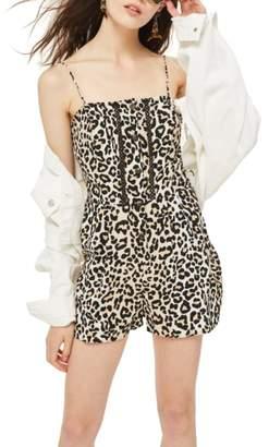 c0a0ebdfc9c ... Topshop Leopard Crochet Romper