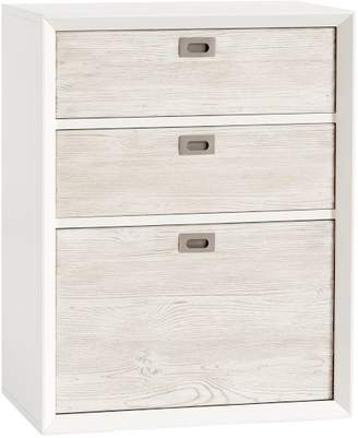 Pottery Barn Teen Callum Wall System 3-Drawer, Weathered White / Simply White