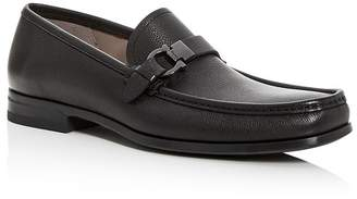 Salvatore Ferragamo Men's Adam Leather Moc-Toe Loafers