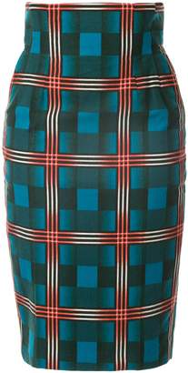 Facetasm high waisted pencil skirt