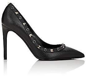Valentino Women's Rockstud Rolling Pumps-Black