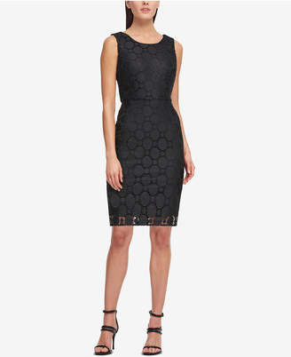 DKNY Circle Lace Sheath Dress, Created for Macy's