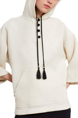 Opening Ceremony Waffle Hooded Pullover