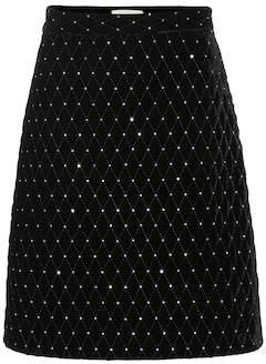 Gucci Embellished velvet skirt