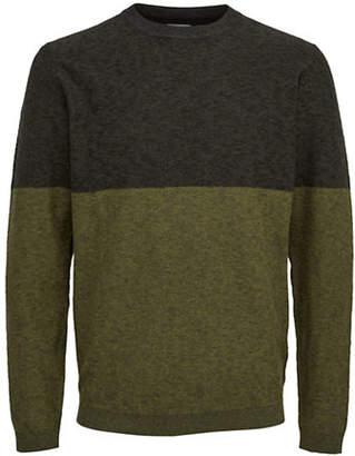 Selected Colourblock Crewneck Pullover
