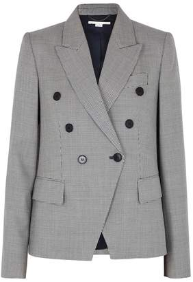 Stella McCartney Robin Tweed Monochrome Wool Blazer