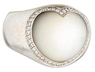 Mother of Pearl Pasquale Bruni 18K & Diamond Heart Ring