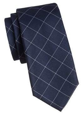 Tommy Hilfiger Grenadine Grid Print Silk Tie