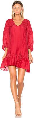 Derek Lam 10 Crosby Bell Sleeve Ruffle Solid Dress