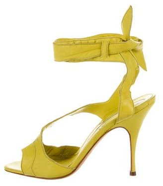 Brian Atwood Leather Ankle Strap Sandals $75 thestylecure.com