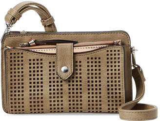 Violet Ray Olive Perforated Crossbody