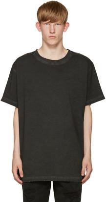 Off-White Black Garment-Dye T-Shirt $250 thestylecure.com