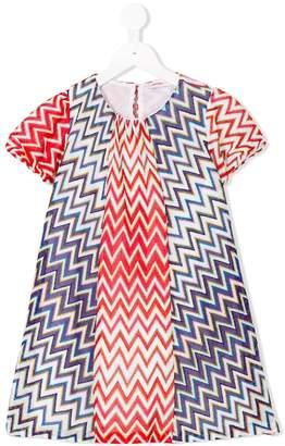 Missoni Kids metallic zigzag shift dress