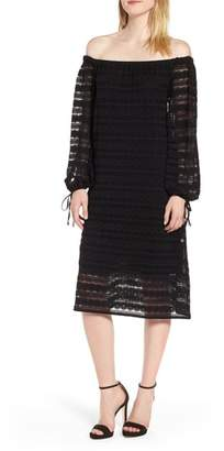 MICHAEL Michael Kors Circle Medallion Lace Off the Shoulder Dress