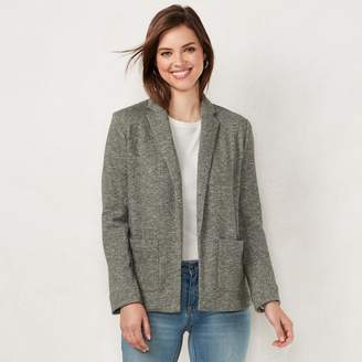 Lauren Conrad Women's Cozy Open-Front Knit Blazer