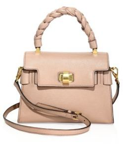 Miu Miu Leather Top Handle Satchel $1,970 thestylecure.com