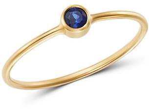 Rachel Zoe Zoë Chicco 14K Yellow Gold Blue Sapphire Bezel-Set Ring