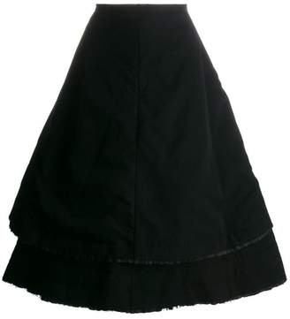 Comme des Garcons double-layer full skirt
