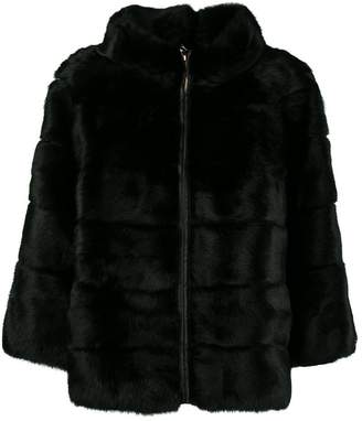 Blugirl high neck boxy coat