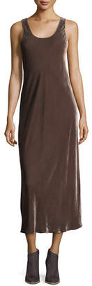 Vince Sleeveless Velvet Tank Maxi Dress