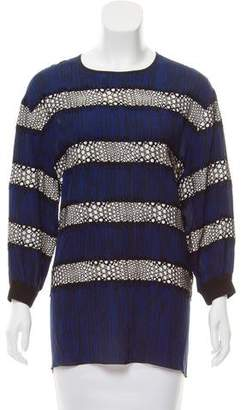 Andrew Gn Printed Three-Quarter Sleeve Tunic