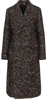 Burberry Wool Mohair Blend Tweed Tailored Coat