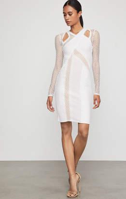 BCBGMAXAZRIA Jaylynn Mesh Patchwork Dress