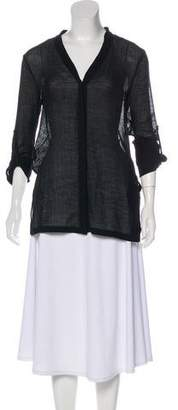 Helmut Lang Button-Up Sheer Tunic