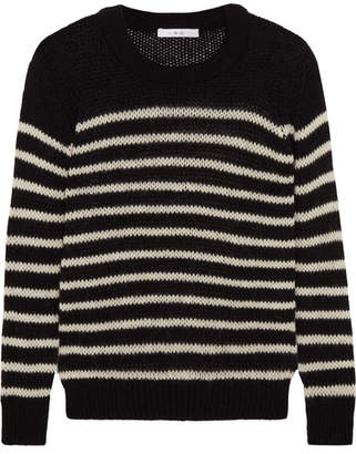 IRO - Striped Knitted Sweater - Black $235 thestylecure.com
