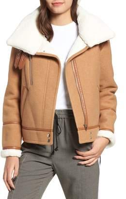 NVLT Brushed Melton Wool Blend Jacket