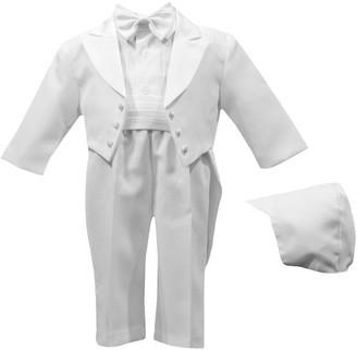 Baby Boy Small World 5 Piece Christening Tuxedo Pant Set