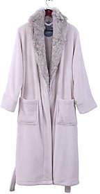 Berkshire Blanket Primalush Large Robe with Wolf Fur Collar